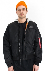 Alpha Industries Clothing, L-2B Hooded Flight Jacket - Black