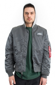 Alpha Industries Clothing, L-2B Hooded Flight Jacket - Gunmetal