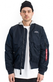 Alpha Industries Clothing, L-2B Hooded Flight Jacket - Replica Blue