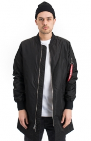 Alpha Industries Clothing, L-2B Long Flight Jacket - Black