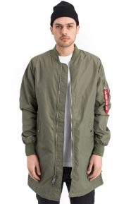 Alpha Industries Clothing, L-2B Long Flight Jacket - Sage