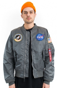 Alpha Industries Clothing, L-2B NASA Flight Jacket - Gunmetal