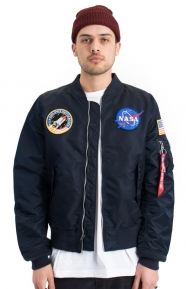 Alpha Industries Clothing, L-2B NASA Flight Jacket - Replica Blue