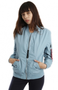 Alpha Industries Clothing, L-2B Scout Womens Jacket - Light Blue