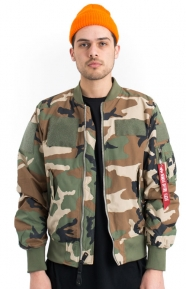 Alpha Industries Clothing, L‑2B Flex Flight Jacket - Woodland Camo