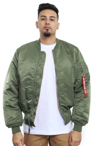 Alpha Industries Clothing, MA-1 Blood Chit Jacket - Sage Green