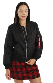 MA-1 Diamond Women's Jacket - Black