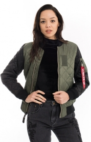 MA-1 Diamond Women's Jacket - Sage Green