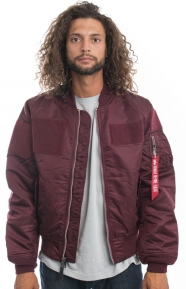 MA-1 Flex Slim Fit Jacket - Maroon