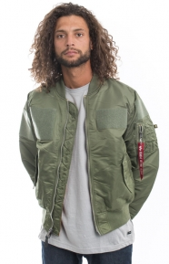 MA-1 Flex Slim Fit Jacket - Sage Green