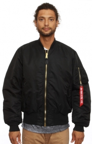 Alpha Industries Clothing, MA-1 Flight Jacket - Black