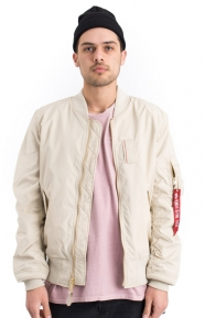 Alpha Industries Clothing, MA-1 Skymaster Flight Jacket- Vintage White