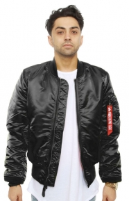 Alpha Industries Clothing, MA-1 Slim Fit Flight Jacket - Black