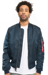 MA-1 Slim Fit Flight Jacket - Replica Blue