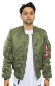 MA-1 Slim Fit Flight Jacket - Sage Green