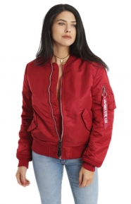 Alpha Industries Clothing, MA-1W Womens Jacket - Red