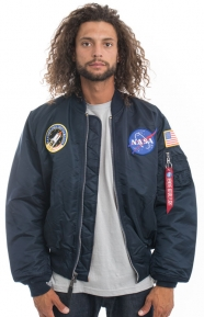 Alpha Industries Clothing, NASA MA-1 Flight Jacket - Replica Blue