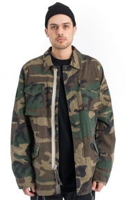 Alpha Industries Clothing, Revival Field Coat - Woodland Camo