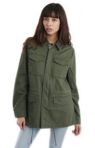 Revival Womens Field Coat - Olive