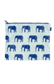 Flat Zip Medium - Sage Elephant