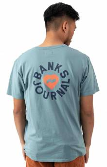 Heart Rings T-Shirt - Smoke Blue