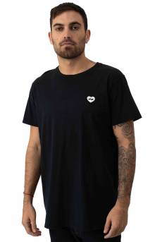 Hearts T-Shirt - Dirty Black