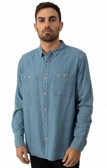 Shadows Button-Up Shirt - Stone Blue