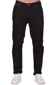 B Relaxed Jeans - Washed Black