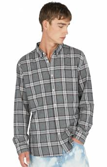 Cabin Button-Up Shirt - Charcoal Plaid