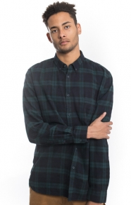 Barney Cools Clothing, Cabin Button-Up Shirt - Navy Plaid