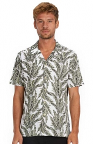 Barney Cools Clothing, Camp Collar Button-Up Shirt - Fern