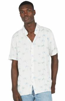 Holiday Button-Up Shirt - White Palm