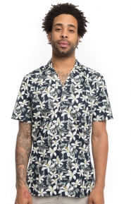 Miami Button-Up Shirt - Navy Floral