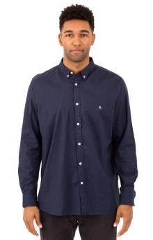 Micro B Embro Button-Up Shirt - Slate
