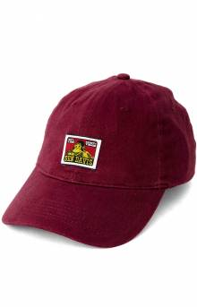 Cotton Twill Baseball Cap - Burgundy