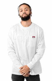 Heavy Duty L/S Pocket Shirt - White