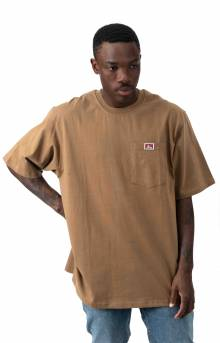 Heavy Duty Short Sleeve Pocket T-Shirt - Coyote Brown