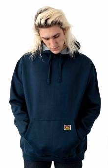 Heavyweight Ben Davis Label Pullover Hoodie - Navy