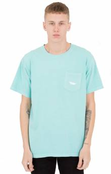 Paper Plane Garment Dyed Pocket T-Shirt - Celadon