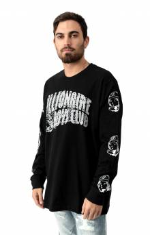 Billionaire Boys Club, BB Arch Script L/S Shirt - Black