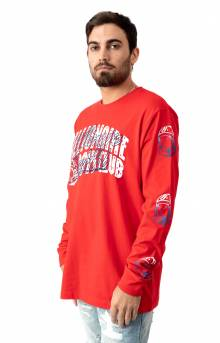 BB Arch Script L/S Shirt - High Risk Red