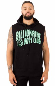 BB Arch Zip Pullover Hoodie - Black