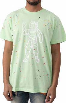 BB Astro Spattered SS Knit T-Shirt - Patina Green