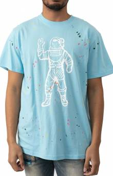 BB Astro Spattered SS Knit T-Shirt - Sky Blue