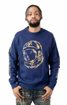 BB Camo Helmet Crewneck - Blueprint