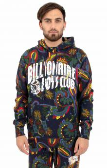 BB Paisley Arch Pullover Hoodie - Black
