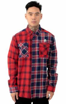 BB Plaids L/S Button-Up Shirt - Chinese Red