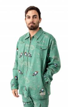BB Space L/S Woven Shirt - Deep Grass Green