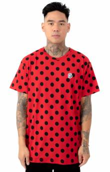 BB Spot Knit T-Shirt - Red