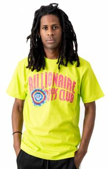 BB Tie Dye Arch T-Shirt - Lime Punch